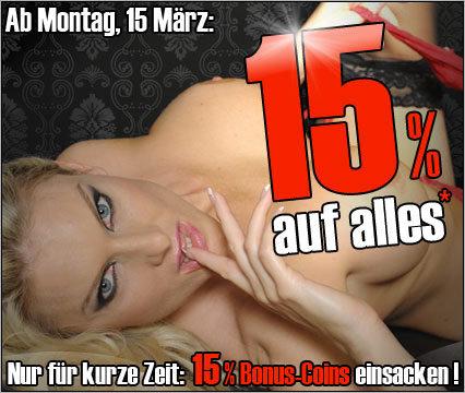 15 Prozent mehr Coins für die Livecams