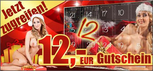 12 Euro - Gutschein im Adventskalender